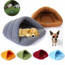 Warm Comfortable House Kennel Bed Multi-function Pet Cat Dog Fleece Sleeping Bag &Cushion(China)
