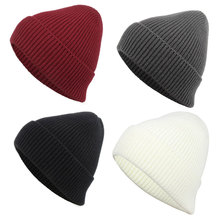 Vintage Knit Skull Caps Cable Knitted Ski Beanie Warm Winter Hats for Men and Women,Dark Red Black Gray White In Stock