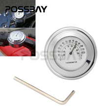 "7/8"" 1"" Billet Aluminum Motocross Handlebar Chrome Dial For Japan Motorcycle Thermometer Temp Night For Universal Motorbike ATV"