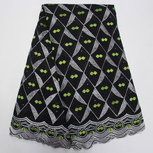 Special Offer African Fabric Black Fabric For Women Dress African Swiss Voile Lace High Qualiey  African Dresses For Women