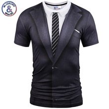 Mr.1991INC&Miss Hot New Style Casual Men 3D T Shirt Short Sleeve tattoo black suit Digital Printing Summer Tops size S-XXXL 5988(China)
