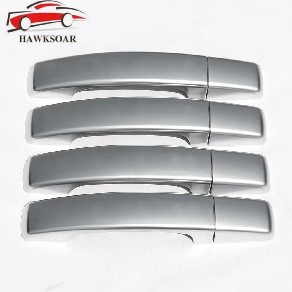 8PCs/Set Chrome Side Door Handle Cover Trim for 2010-2013 Land Rover Discovery 2011-2015 Land Rover Freelander 2<br>