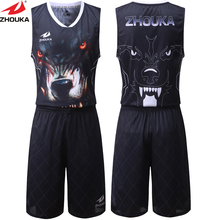Tiger Pattern Digital Sublimation Printing Custom Basketball Set Team Basketball Training Set