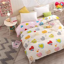 New fashion cartoon princess duvet cover white pink red love bedding twin full queen king girl boys blanket quilt cover case