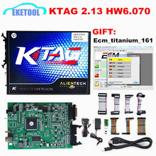 2017 New KTAG V2.13 Hardware V6.070 ECU Programming Scanner Master Version No Tokens Limited K TAG 100% J-Tag Compatible K-TAG