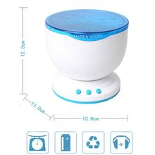 Calming Autism Sensory LED Light Projector Toy Relax Blue Night Music Projection(China)