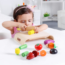 Baby Toys Magnetic Fruit/ Vegetable Cut Wooden Toys Kitchen Food Korea Brand Play House Kids Educational Birthday Gift(China)