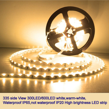 335 side view LED Strip 120L/60LED/m Extra Bright White/Warm White Waterproof LED Tape DC12V IP67/IP20 Flexible Lights 5m/roll(China)