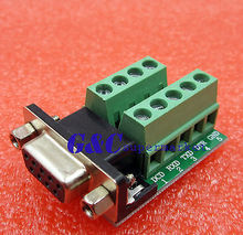 DB9 connector female adapter signals Terminal  RS232 Serial to Terminal