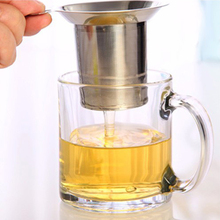 Reusable Mesh Tea Infuser Stainless Steel Green Cha Tea Leaf Infusers Filter For Chinese Puer Tea Bag In Teapot Tea Strainer(China)