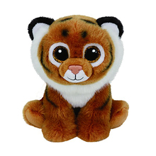 "Pyoopeo Ty Beanie Boos 6"" 15cm Tiggs the Brown Tiger Plush Stuffed Animal Collectible Soft Doll Toy"