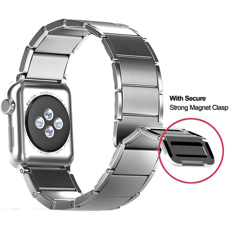 Luxury stainless steel watch band for apple series 1 2 3 watch strap 38-42 mm reloj hombre marca de lujo heren horlogewatcha bracelet (2)