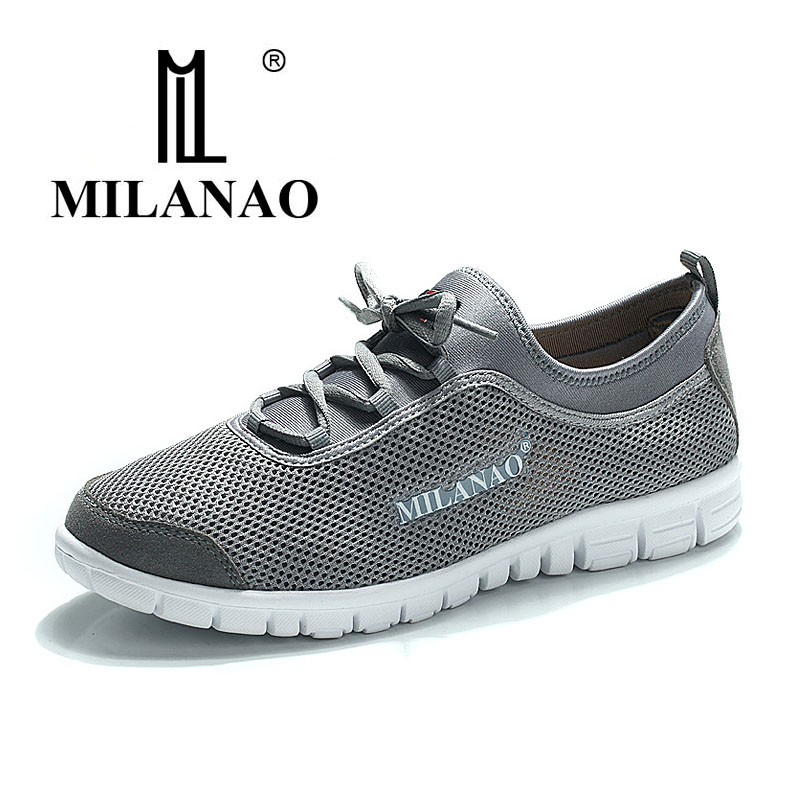 MILANAO 2016 breathable running shoes,super light sneakers comfortable men athletic shoes, men's brand sport running shoes(China)
