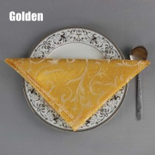 48*48cm High Quality Luxury Gold Hotel Dining Table Napkin Restaurant Square Folding Cloth Wedding Party Decorative Handkerchief(China)