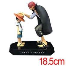 C&F Animation One Piece Anime Action Figure Toys Monkey D. Luffy Red-Haired Shanks PVC Model Collectible Figures Toys(China)