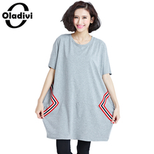 Buy Oladivi Plus Size Women Clothing Short Sleeve Casual Loose Tops Tees 2017 Summer New Shirt Tunic Ladies Shirt 6XL 5XL 4XL 3XL XL for $19.43 in AliExpress store