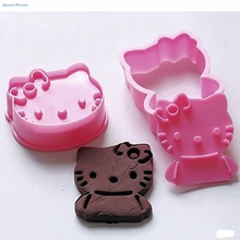 Sweettreats Hello Kitty Cookie Cutters Sugar Fondant Cake Mold Baking Tools