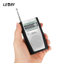 LEORY Portable Mini Radio AM FM Telescopic Antenna World Bands Stereo Receiver Clamp Radios Support 3.5mm Earphone For Outdoor(China)
