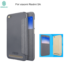 Flip case For Xiaomi redmi 5A NILLKIN Sparkle Flip Leather cover Case For xiaomi redmi 5A Smart Sleep Wake Function phone bags(China)