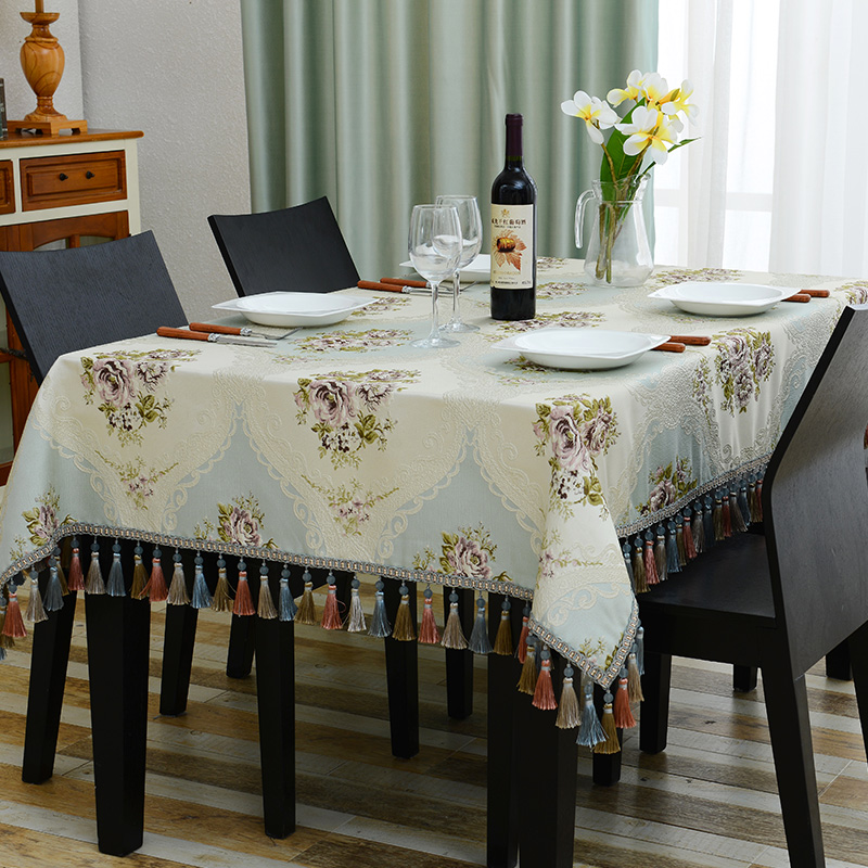 TABLECLOTH//TABLE RUNNER FOR YOUR HOME 11COLOURS AMAZING EMBROIDERED BIG FLOWERS