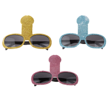New Hot Sale Plastic Glitter Willy Penis Sunglasses Glasses Fancy Dress Hen Party Hen Night Stage Party Accessories Decorations