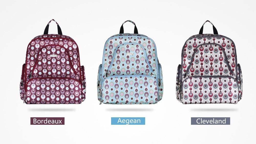Fashion Multi Functional Large Capacity Double Shoulder Baby Diaper Bag Waterproof Printed Nylon Mommy Backpack Diaper Bag C1068