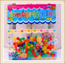 100pcs/lot multi Colors Crystal ball 2.5- 3mm Crystal soil sea baby grow up 20-35mm hydrogel beads water holder(China)