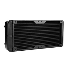 240mm G1/4 Aluminum Computer Radiator Water Cooling For CPU LED Heatsink Free Shipping(China)