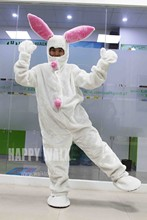 High Quality Adult Easter Rabbit Mascot Costume Fancy Dress Carnival Party Suit  Animal Cosplay Costume Performance Clothing