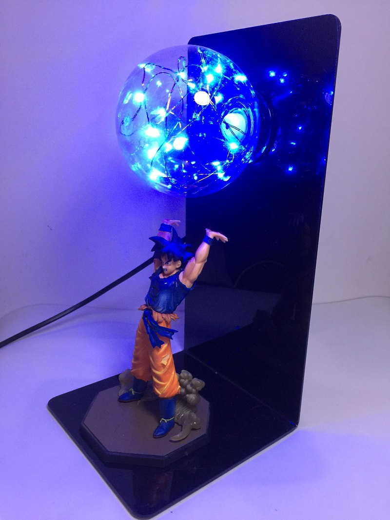 Dragon Ball Z Action Figure Son Goku Fighting Creativity Glowing Flash Ball DIY Display Toy Super Saiyan 2018 Newest (7)