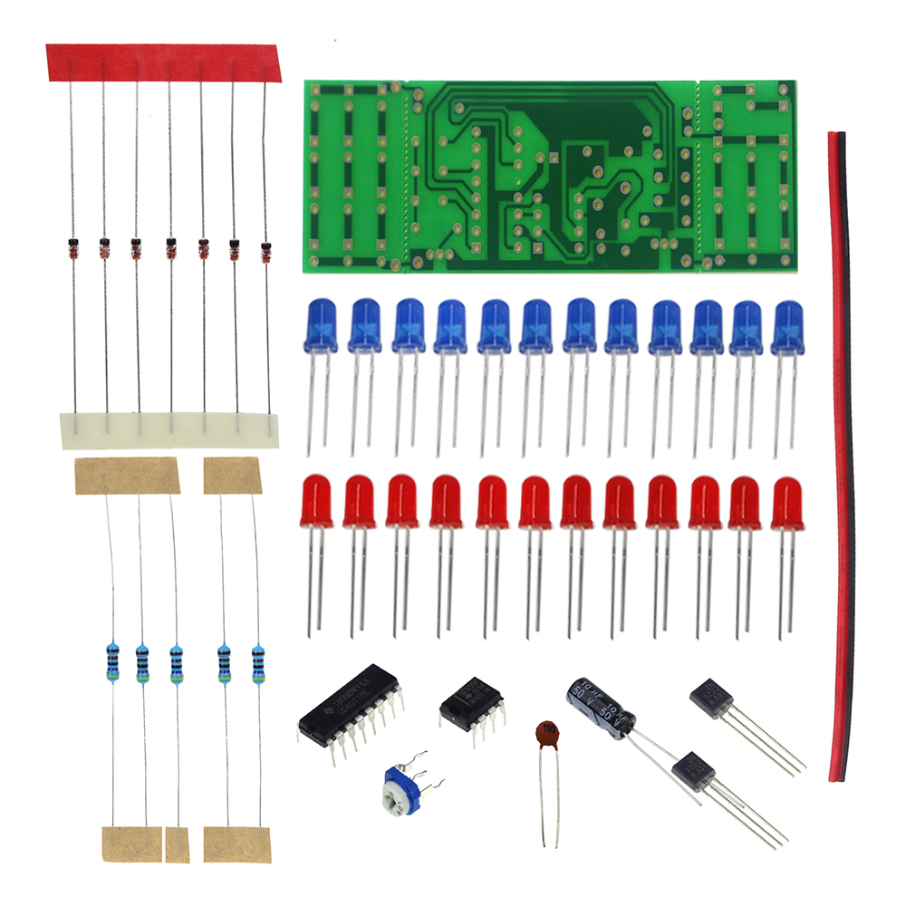 2018 Smart Electronics Kits Ne555 Cd4017 Light Water Flowing Using Ic Ne555cd4017 Electronic Projects Circuits Red Blue Double Color Flashing Lights Kit Strobe Practice Learning Diy Suite Priceusd 144