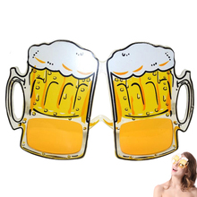 Yellow Beer Glasses HEN PARTY FANCY DRESS New Arrival Beer Goggles Sunglasses Funny Halloween Gift Fashion Accessies WN0372