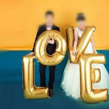 40inch Gold Silver Letters LOVE Foil Balloons Wedding Decoration Ballons Air Inflatable Mariage Balloon Event & Party Supplies