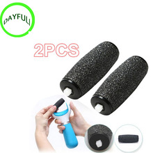 2Pcs Feet care tool Heads Pedi Hard Skin Remover Refills Replacement Rollers For scholls size(China)