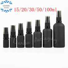 Black Mineral Glass Sand Fine Mist Spray Bottle,Lotion Glass Bottle, Glass Perfume Bottles With Spray, Essential oil Container(China)