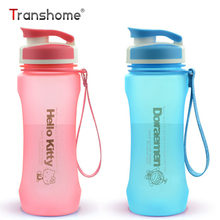 Transhome Cute Water Bottle 600ml Hello Kitty Doraemon Cartoon Creative Plastic Kettle For Children Adults Outdoor Sports Bottle(China)