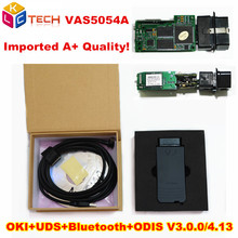 Imported A++ Quality Green OKI Full Chip VAS 5054A ODIS V3.0.3/4.13 Bluetooth VAS5054A Support UDS Protocol VAS 5054A VAS5054(China)