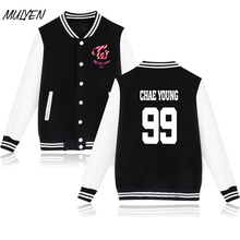 MULYEN Fashion Kpop Twice Member Name Printing Baseball Uniform Women Harajuku Pink Hoodies Twiceland Album Concert Tracksuit