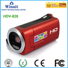 Winait cheap digital video camera HDV-828 15mp 4x digital zoom rechargeable lithium battery photo and video camcorder