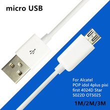 Mobile Phone Charging Cable USB2.0 Data sync Charger Cable 3Meter For Alcatel POP idol 4plus pixi first 4024D Star 5022D OT5025
