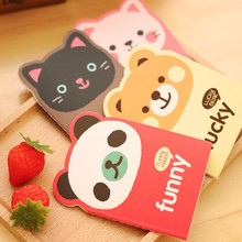 1 Pics 12 X 8.5cm Korean Animal Panda Cat Bear Kawaii Mini Notepad Cute Notebook Cartoon Note Book Small School Supplies For Kid(China)