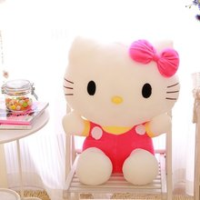 Top Quality 20/25/35/45cm tall Hello Kitty Toy Pillow, plush toys for children kids baby toy, lively lovely doll hello kitty toy(China)