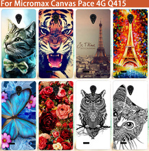 Fashion Patterns Cartoon Luxury Case For Micromax Canvas Pace 4G Q415 Newest Arrival Case Flower Tower Animals Style Cover