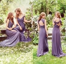 Amazing Off Shoulder Purple Black Bridesmaid Dress 2017 Sexy Pleated Chiffon Maid Of Honor Gowns Cheap Wedding Party Dress