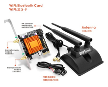 WiFunni CF-WK350E 2.4G 5G Dual Frequency PC PCI-E Wireless WIFI 300M Bluetooth 4.0 IEEE 802.11 a/b/g/n Network Card Magnet Base