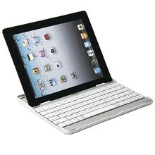 Bluetooth 3.0 Wireless Aluminum Keyboard Bluetooth Teclado For Ipad2/3/4 Make Your Tablet Like A Laptop White and Black Color(China)