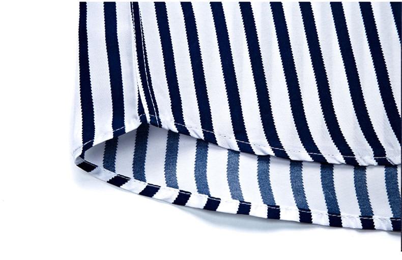 2018 New Men's Striped Male Shirts Cotton Men Shirt Mens Clothing Chemise Social casual Slim fit Dress Homme Shirts men K036 13