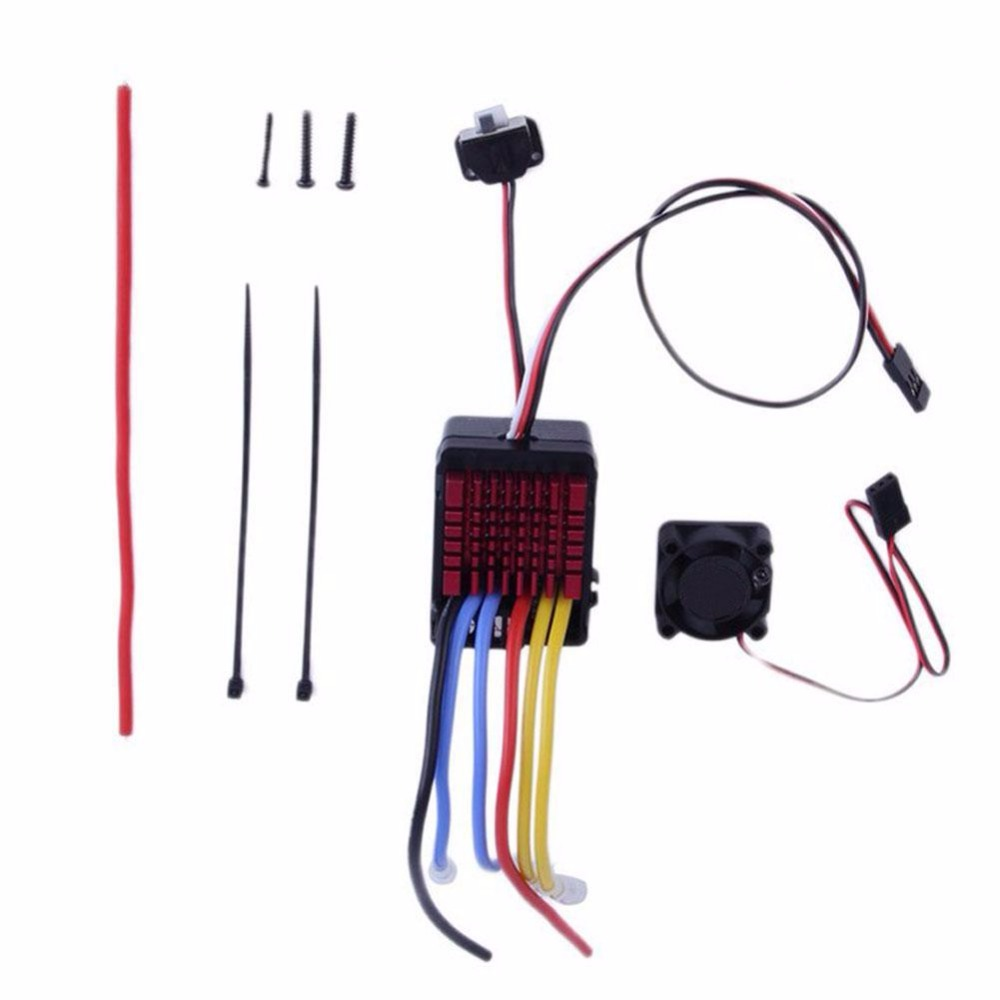 Dual Brushed 8060 60A ESC Speed Controller for 1:8 Car for Hobbywing QuicRun<br>