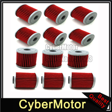 12x Oil Filter For SUZUKI RMZ450 RMZ 250 450 EVO 300 KAWASAKI KX 250F