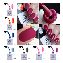 Born Pretty Matte Soak Off UV Gel Polish 1 Bottle 10ml Candy Colors Hot Sale Varnish Manicure Nail Art Lacquer
